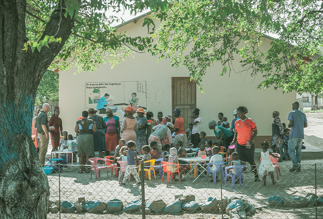 Giving back with feed a child Botswana