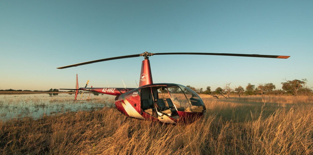 A2-HRZ Helicopter on safari