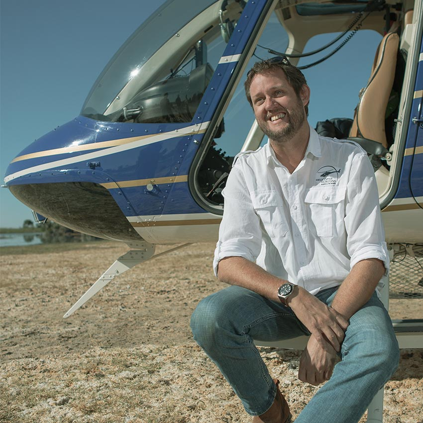 Helicopter Horizons pilot - Andrew