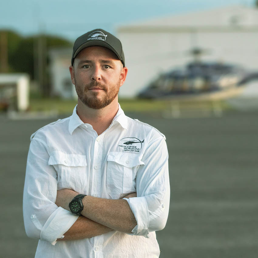 Helicopter Horizons pilot - Barry