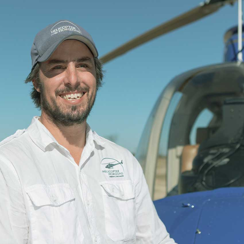 Helicopter Horizons pilot - Michael