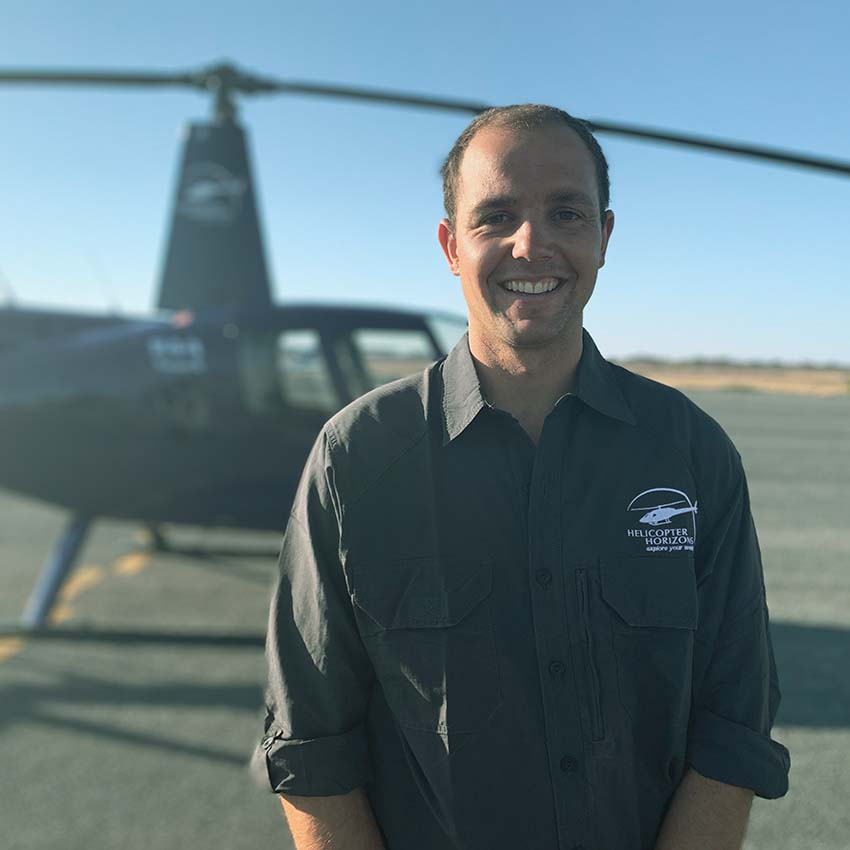 Helicopter Horizons pilot - Tom