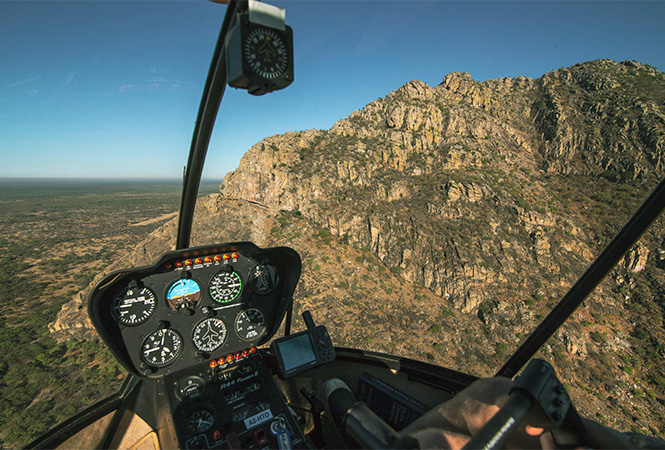 Experience the Tsodilo Hills first from the air