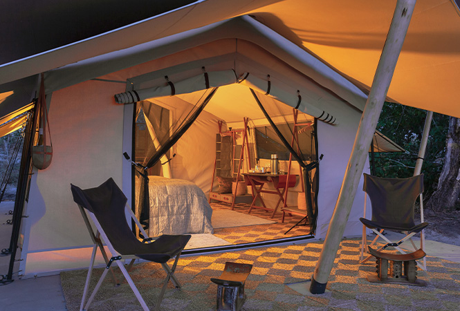 Luxury overnight lodge in Botswana