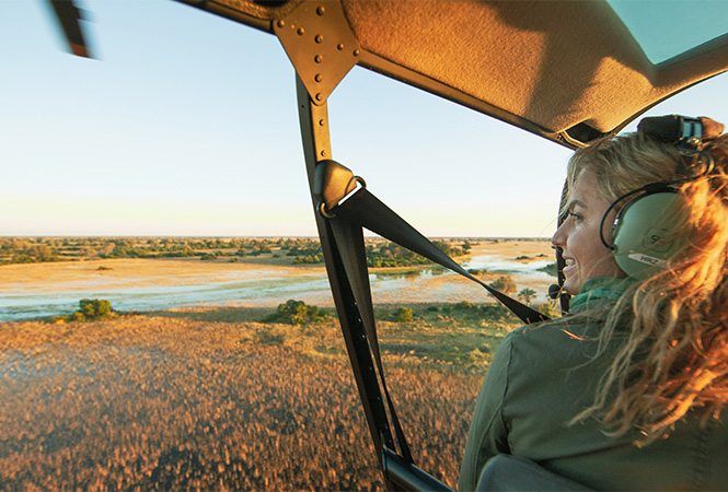 View during one of our helicopter safaris