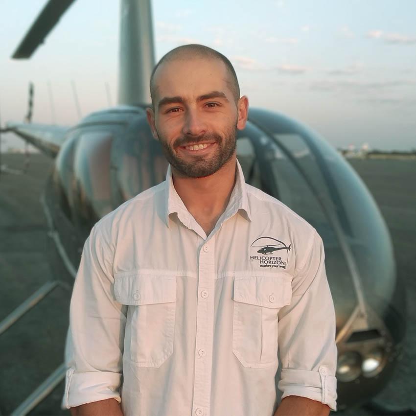 About us - Helicopter Horizons pilot Keyan